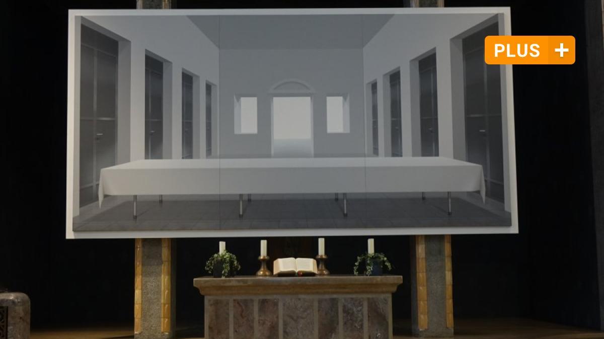 Ulm: The Blank Last Supper: Ulmer Pauluskirche displays the work of Ben Willikens