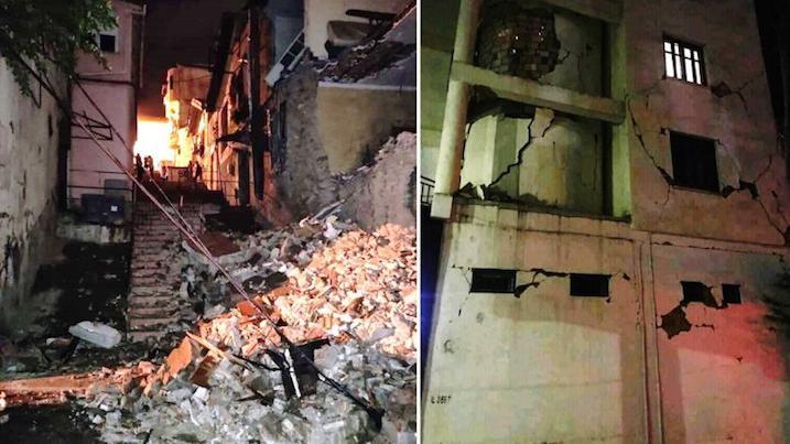 Videos.  Algeria: An earthquake causes a lot of material damage in Bejaia