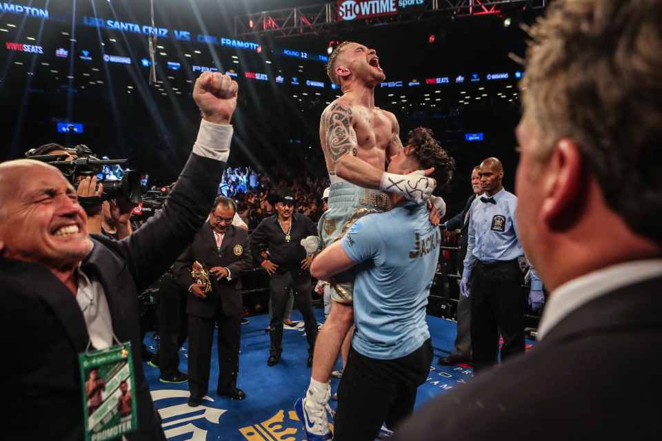Frampton is already a weightlifter champion