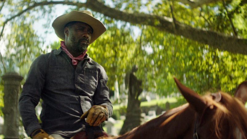 Who are the cowboys in town to whom the last western channel of Netflix starring Idris Elba is dedicated