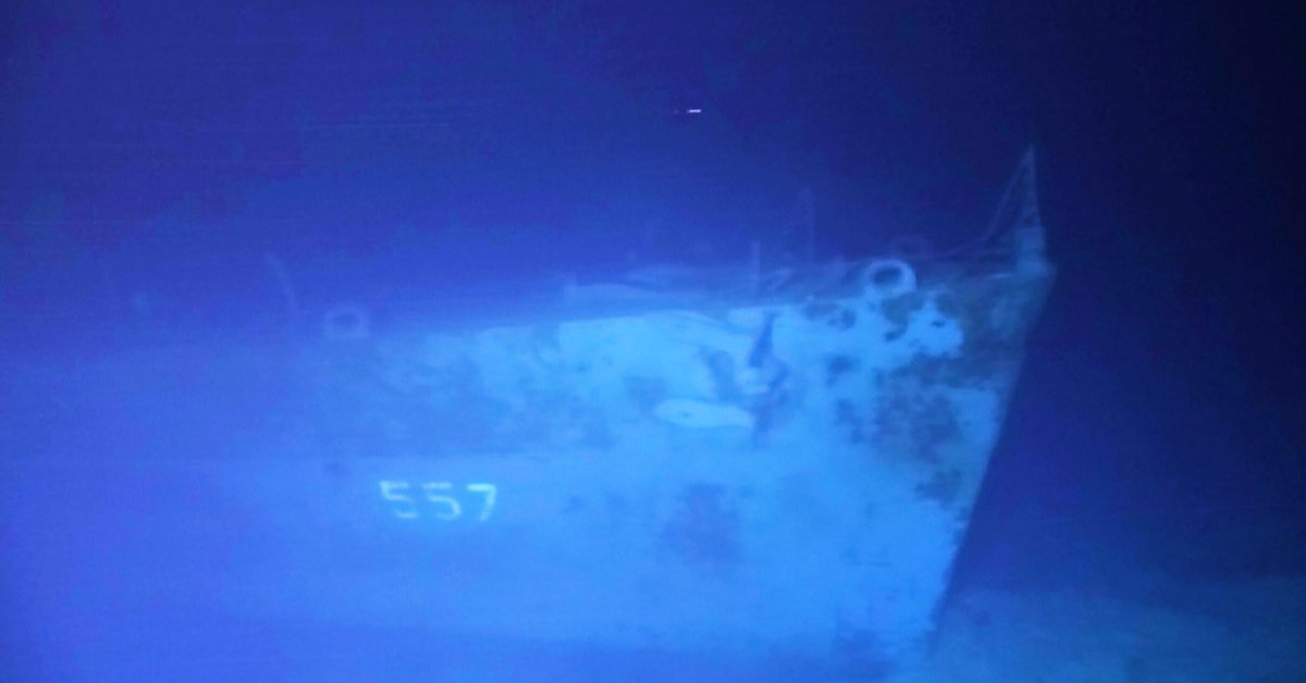 They found at a depth of 6,500 meters the remains of an American ship that sank in the Philippines during World War II