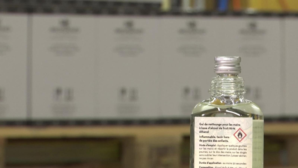 In Switzerland, the beverage distillery has turned into a hand sanitizer