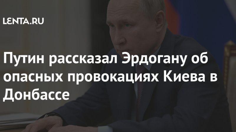Putin told Erdogan about Kiev's dangerous provocations in the Donbas: Politics: Russia: Lenta.ru