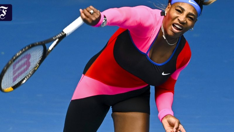 Serena Williams was delighted with her new tennis outfit