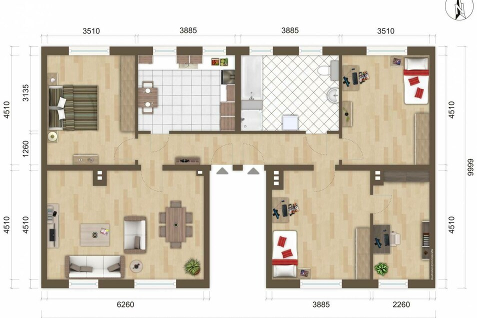 The floor plan planned for the apartment