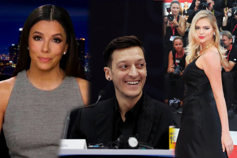 Actress Eva Longoria (46, left), soccer star Mesut Ozil (32, center), and model Kate Upton (28) are among the people who want to invest in Mexican club Necaxa.