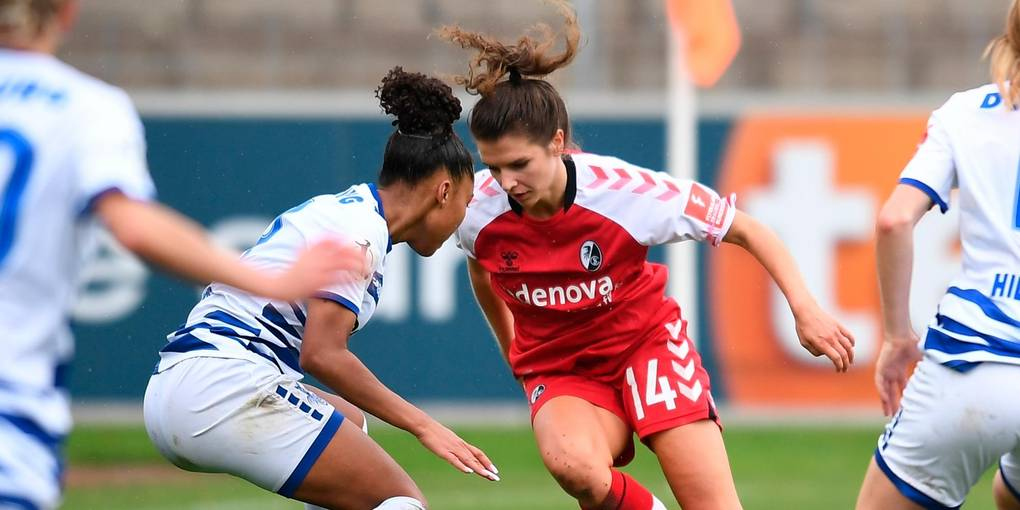 Whirlwind: Lena Borger has already demonstrated her quality in a Freiburg red shirt.  Photo: Achim Keeler