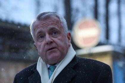 US Ambassador to Russia John Sullivan speaks to reporters in Moscow, Russia, on January 30, 2020. REUTERS / Evgenia Novozinina
