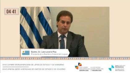 Capture of Lacali Bo's speech at the Ibero-American Summit