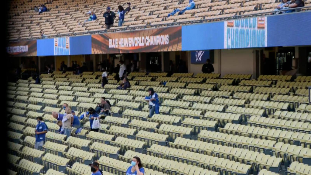 The Dodgers provides a special section for pollinated masses