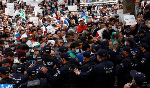 The 114 student marches were brutally prevented in Algiers