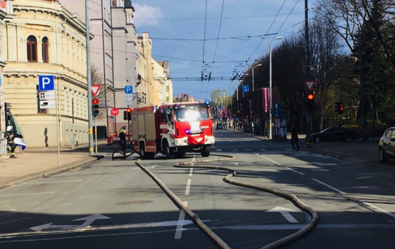 A fire in a hostel in the center of Riga on Merkel Street killed eight people