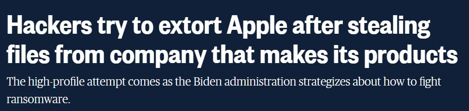 """An American network reveals the theft of data from """"Apple"""" … and hackers threaten to expose """"major secrets"""""""