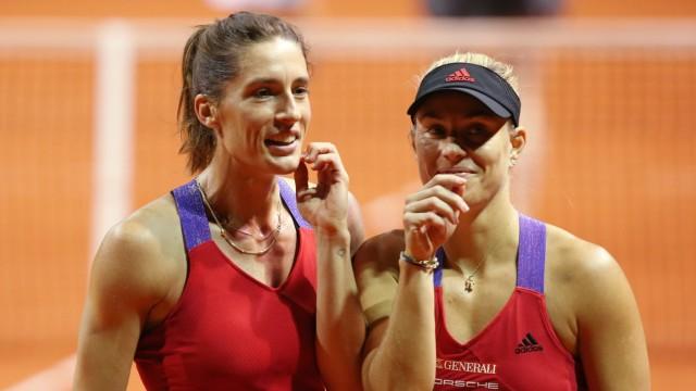 BAU // 04/20/2021 Stuttgart Tennis Grand Prix Porsche Tennis, doubles, Angelique Kerber (GER) Andrea PETKOVIC (GER) *** BA