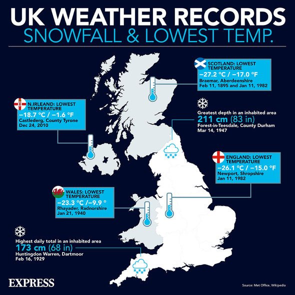 The United Kingdom records the coldest temperatures