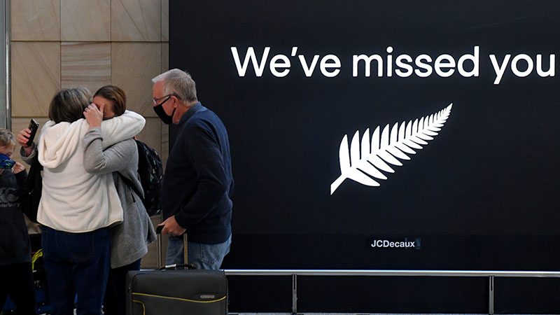 """New Zealand meets workers at airports near Covid and recently opened a """"travel bubble"""" with Australians."""