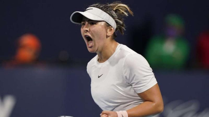 Party and Andreescu in the Miami final - Tsitsipas out