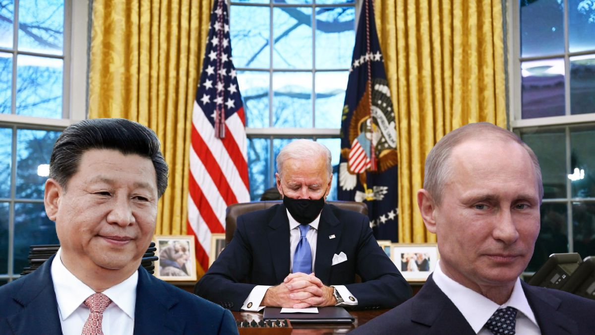 Russia, China and Iran.  One Hundred Days to Breakthrough Biden
