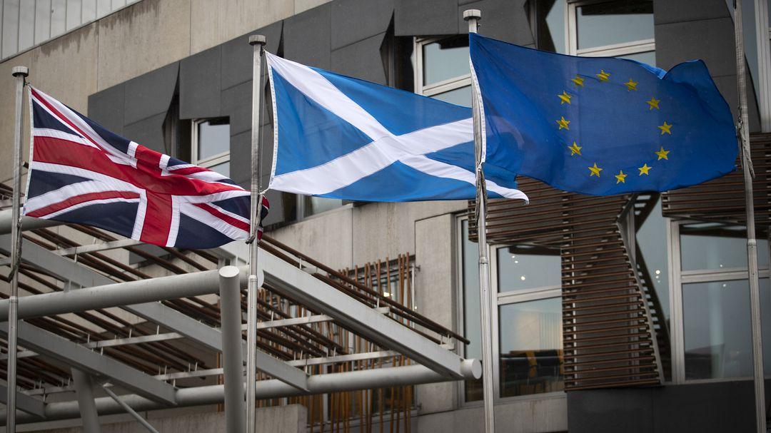 Scotland raises the European Union flag over government buildings