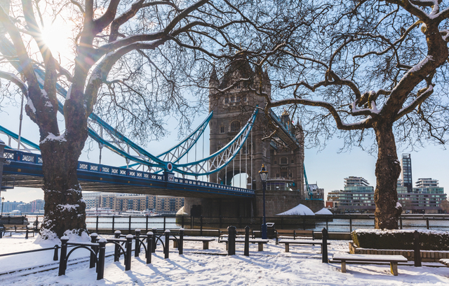 UK Cold Wave: London shines with snow
