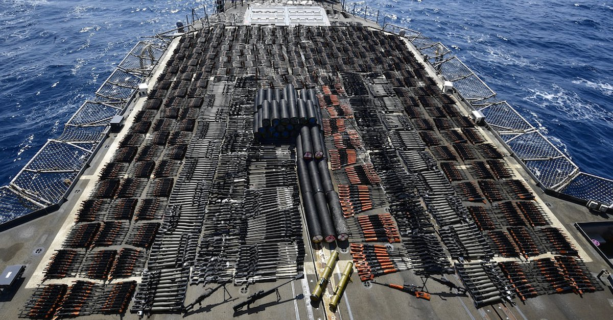 The US Navy seized an arsenal of thousands of Russian and Chinese weapons in the Arabian Sea