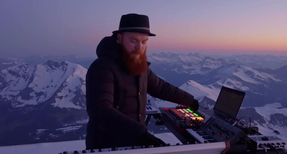 Viral video    DJ performs concert in the Swiss Alps and leaves electronic music lovers in awe    YouTube    Switzerland    Directions    Trending    nnda nnrt    from the side