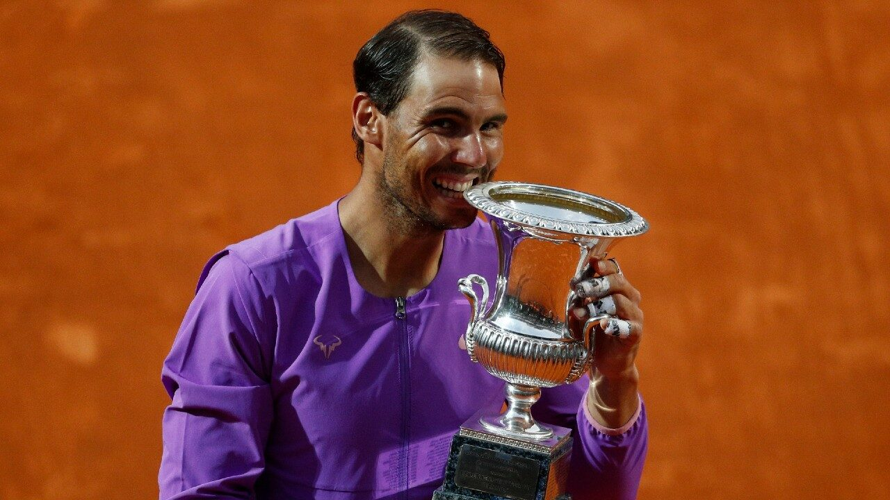 Nadal defeated Djokovic to win the tenth Rome Tennis Championship