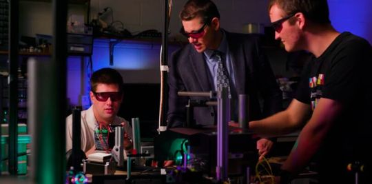 Researchers led by Dan Smalley of Brigham Young University are developing a hologram that can move in free space.