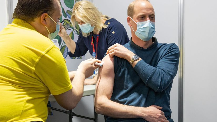 Prince William showed his biceps when vaccinated!  He probably had no idea what – stellar states – the cocktail might be causing it
