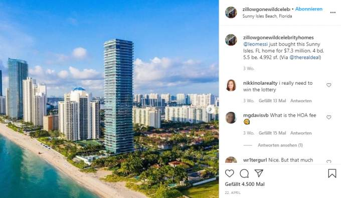 Lionel Messi's apartment in Miami