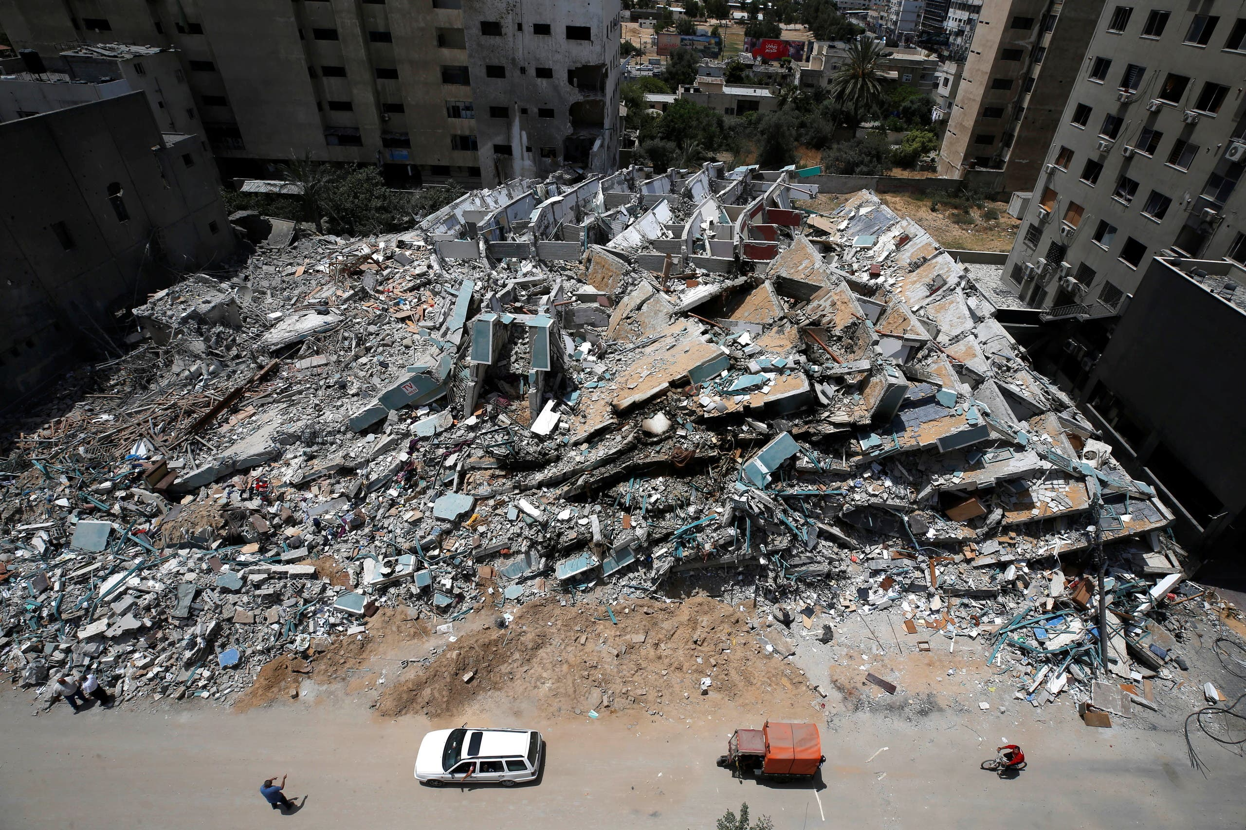Destruction is the predominant scene in Gaza after 11 days of bombing