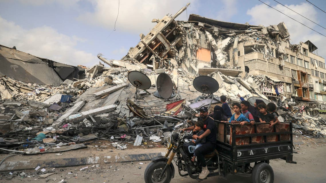 From the devastation in Gaza as a result of the Israeli bombing
