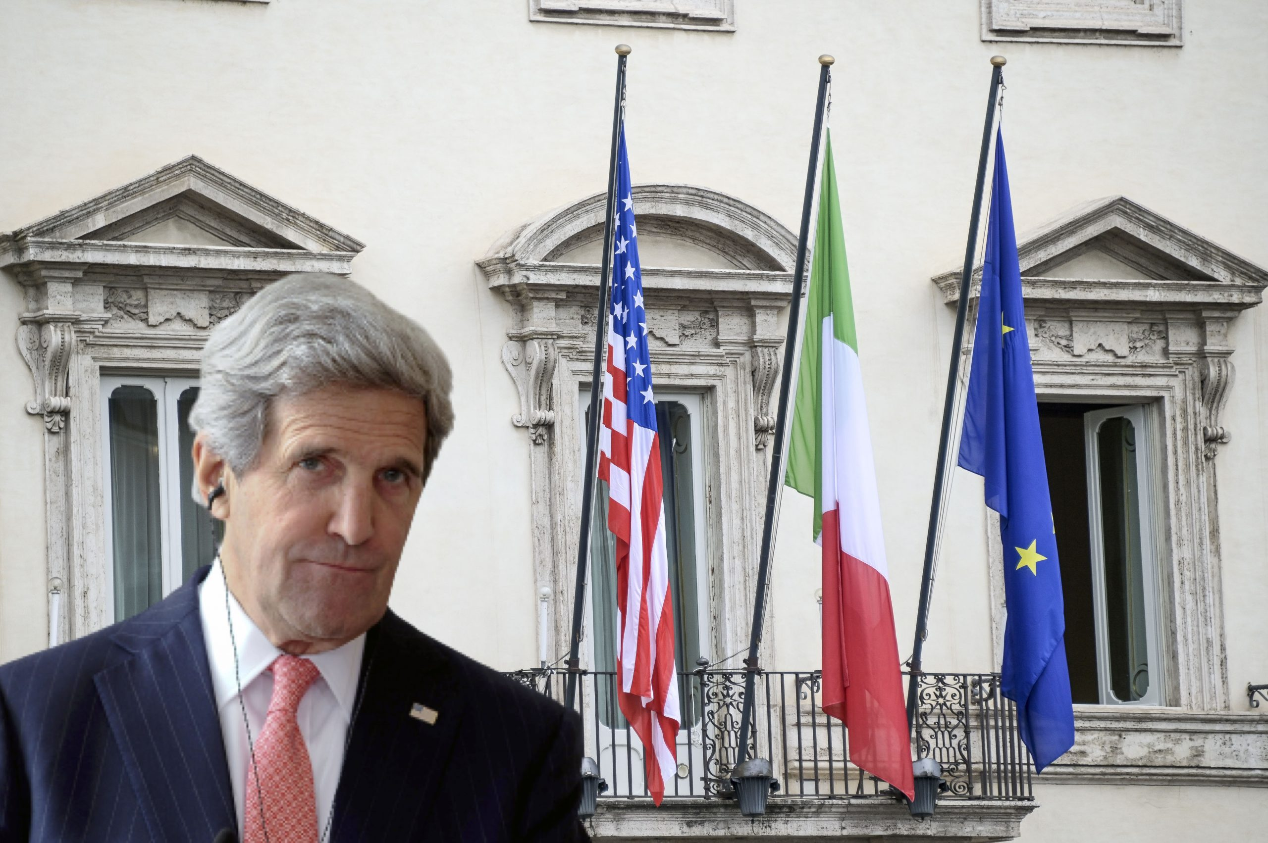 Biden calls, answers Draghi.  Because Kerry is looking to Rome