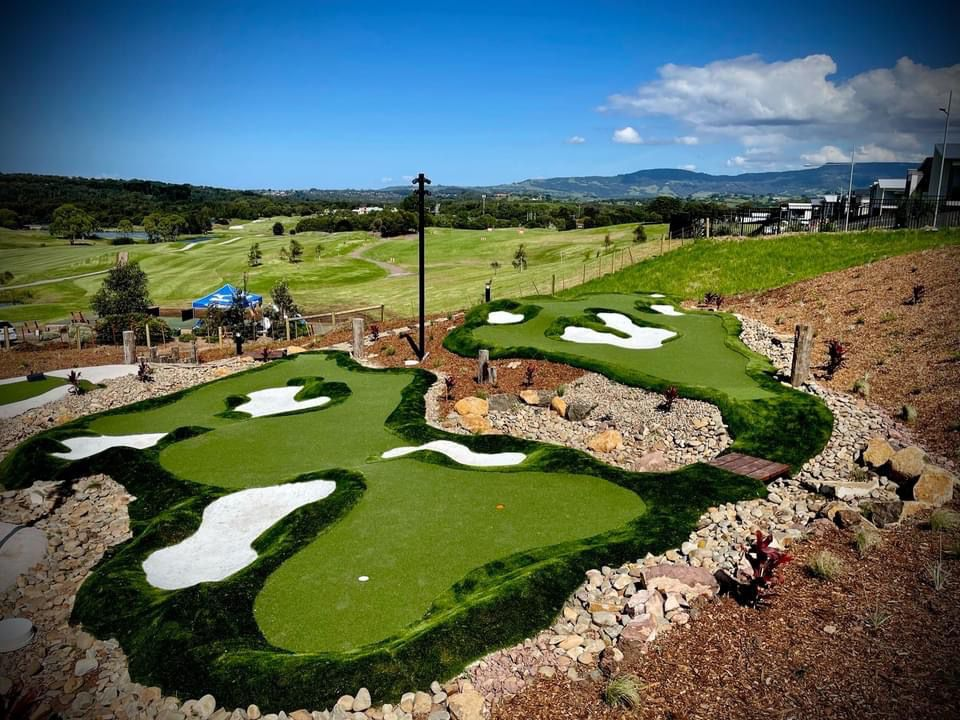 Limonta Sport installed artificial turf products on a golf course in Shell Cove, Australia.