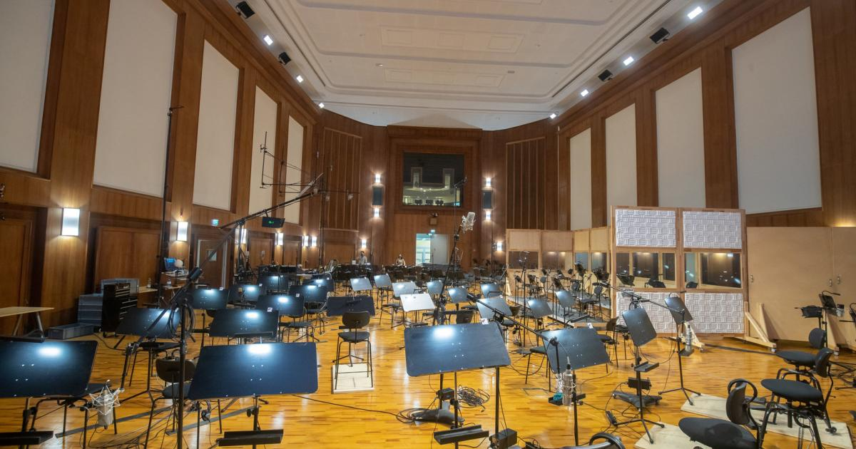 Sound studio for movie music: a room where you hear it all