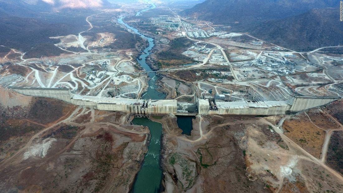 A recent photo of the Ethiopian Renaissance Dam