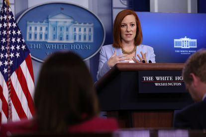 White House spokeswoman Jane Psaki on Friday during her daily press conference.