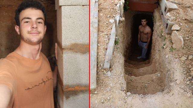 Angry at his family, he dug an underground house for 6 years