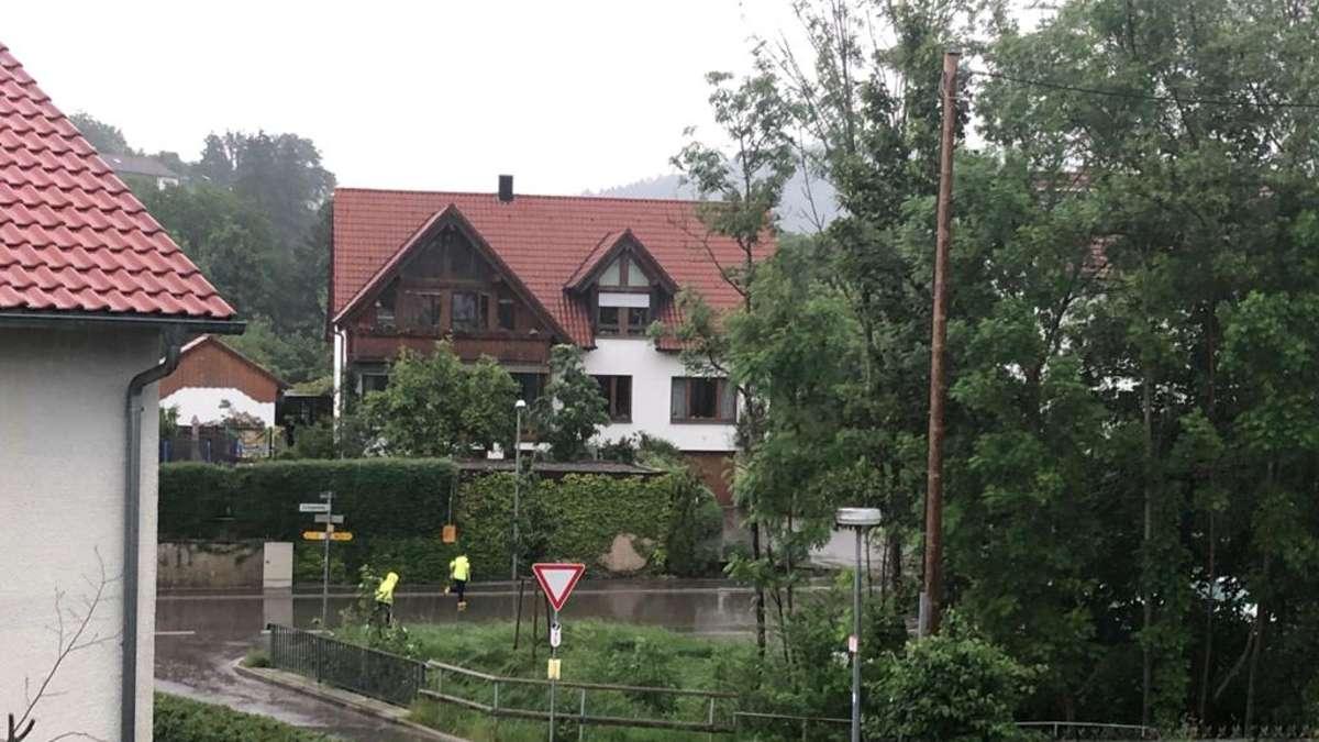 Severe storm over Waldstetten |  Schwäbisch Gmund
