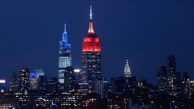 Das Empire State Building in New York leuchtete rot für den Bayern.