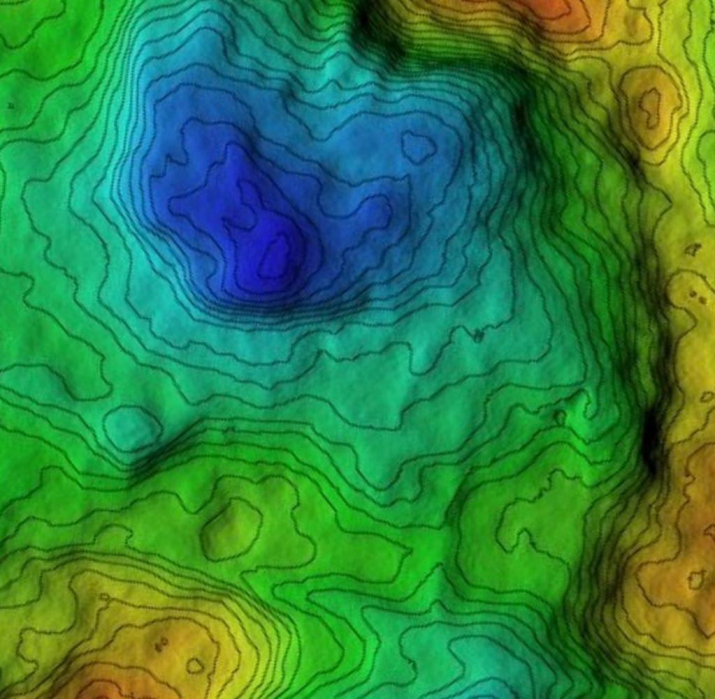 Only the digital elevation model on the right shows this 120,000-year-old human footprint