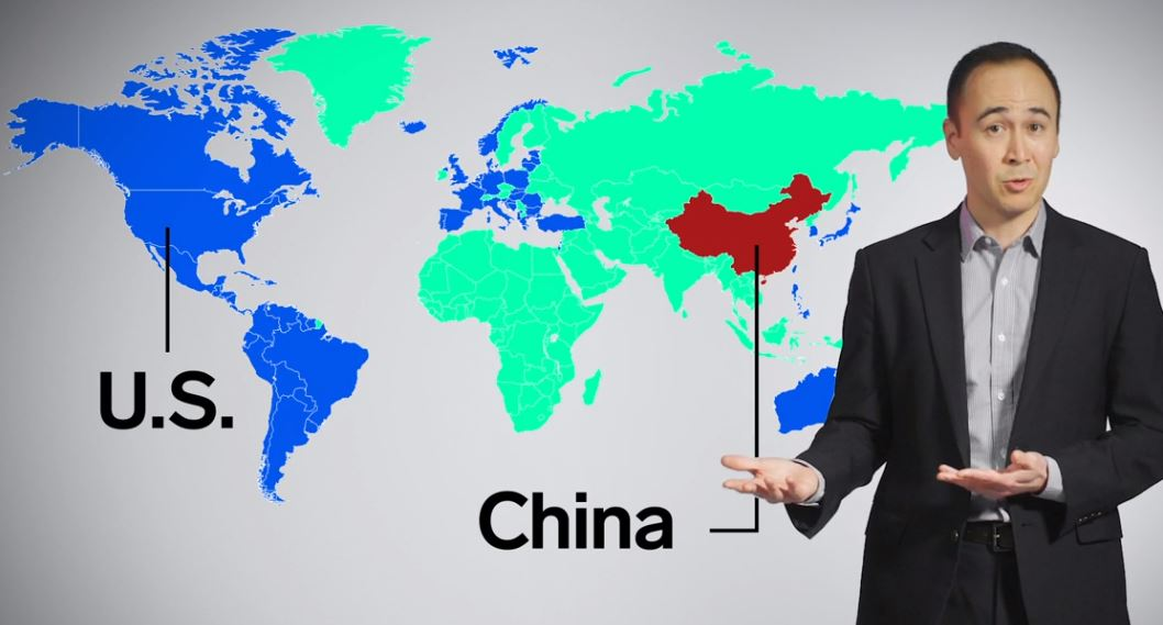 A political scientist explains the confrontation between the United States and China in a video clip