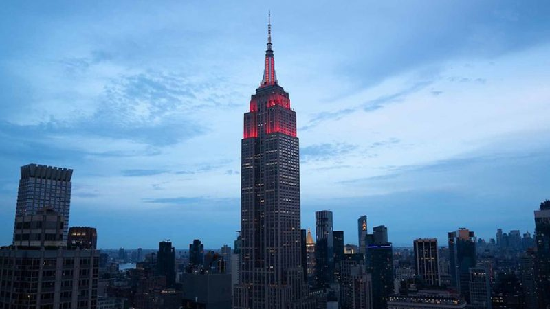 FC Bayern Munich: The Empire State Building shines in Bayern red