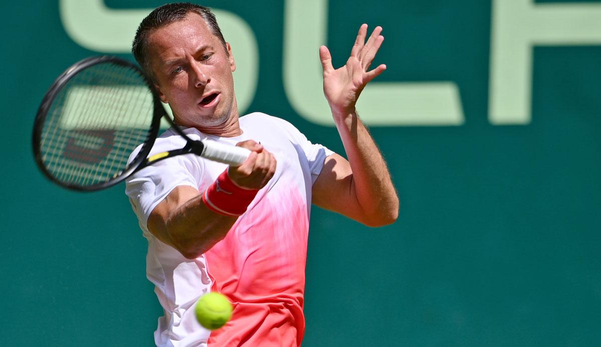 Philip Kohlschreiber moves into the quarter-finals in Halle
