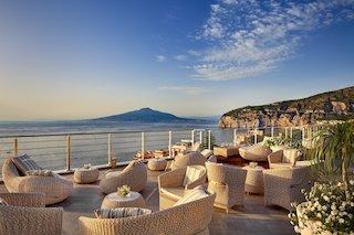 Sorrento coast.  Vista Sky Bar Hotel Mediterraneo . reopens
