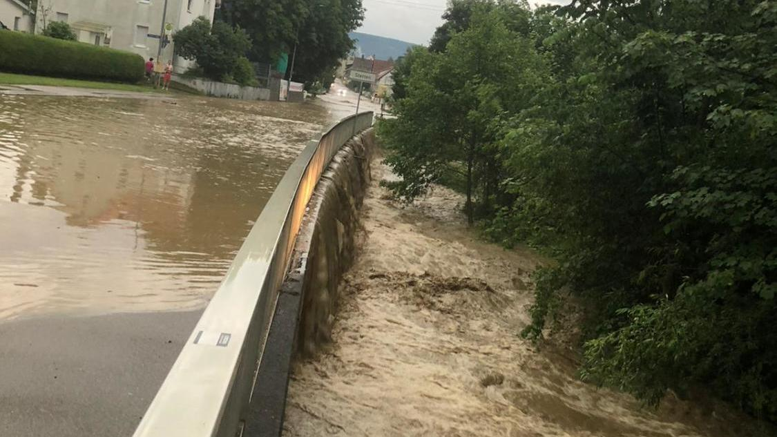 Storm in Hechingen: Update: Hechingen fights with flooded streets