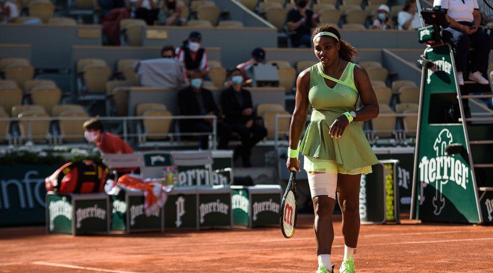 Serena Williams US Tennis: Roland Garros 2021 - French Open - 06/06/2021 FedericoPestellini / Panoramic PUBLICATIONxNOTxINxFRAxITAxBEL