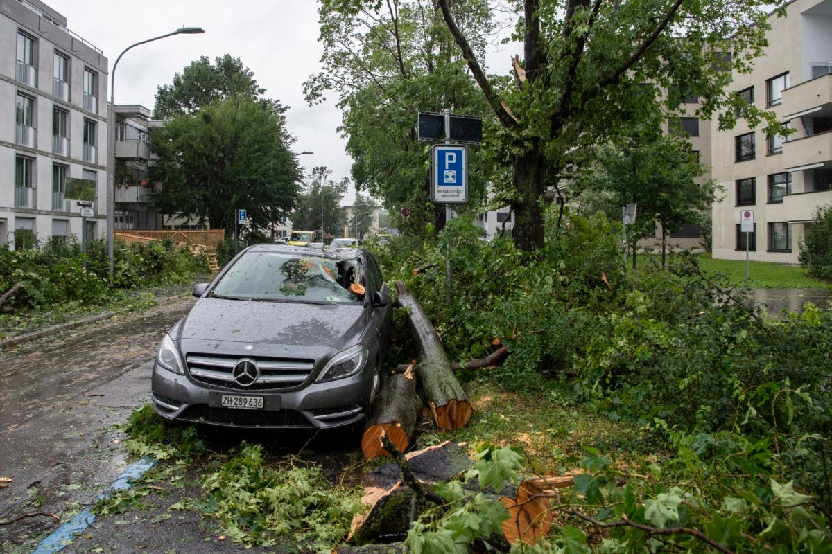 Several regions in Switzerland were hit by a severe storm