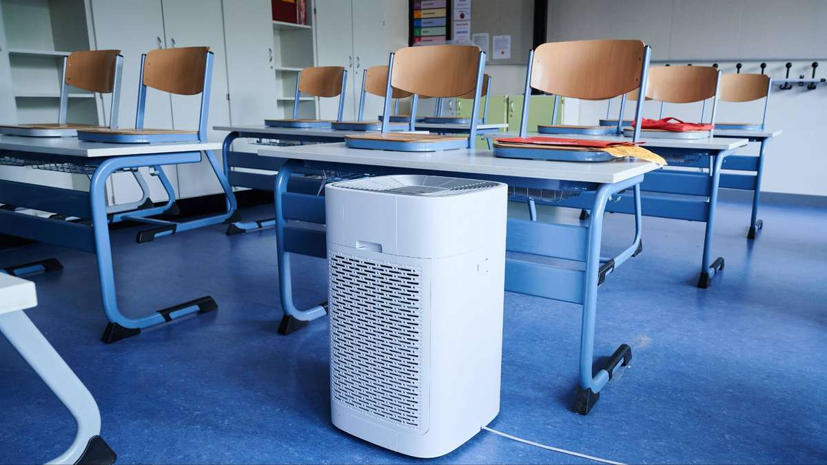 There are no air filters for schools at the moment