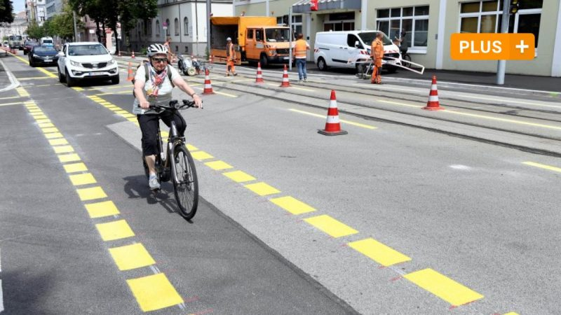 Augsburg: Less parking space, more space for cyclists: Here's what the new bike lanes bring